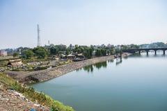 Rivière sainte Kshipra près de Dewas Inde image libre de droits