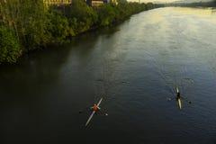 Rivière Sculling Images stock