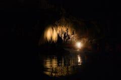 Rivière souterraine souterraine de Puerto Princesa à Philippines Images libres de droits