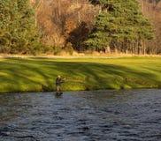 Rivière Spey, journée 'portes ouvertes' de la période de pêche 2014. Image stock