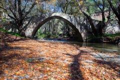 Rivière sur la colline, horaire d'hiver Photo de voyage photo stock