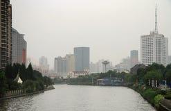 Rivière Suzhou au centre de Changhaï Image stock