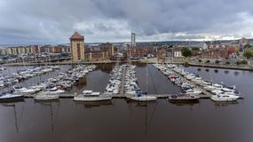 Rivière Tawe Marina South Wales de Swansea Images stock