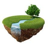 Rivière verte d'île de paix Photo libre de droits