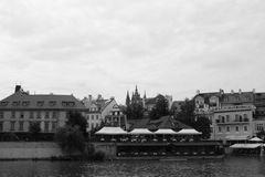 Rivière vivante Vltava de l'Europe Kampa de voyage de République Tchèque de czechia Photo libre de droits