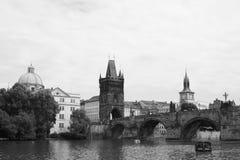 Rivière vivante Vltava de l'Europe Kampa de voyage de République Tchèque de czechia Photographie stock libre de droits