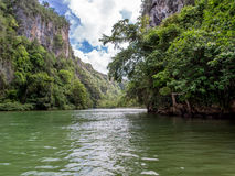 Rivière Yumuri Baracoa Cuba Photos libres de droits