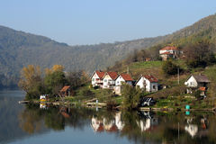Rivière Zapadna Morava, Serbie Images libres de droits