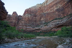 Rivière Zion de Vierge Photographie stock