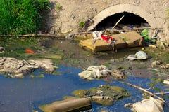 Rivières polluées Image stock