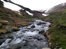 Rivier in Andorra royalty-vrije stock foto's