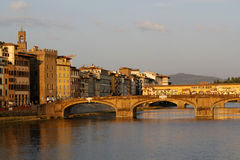 Rivier Arno Florence Stock Foto's