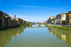 Rivier Arno, Florence Stock Foto
