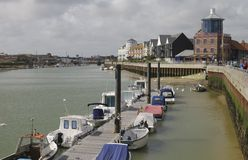 Rivier Arun in Littlehampton. Sussex. Engeland Royalty-vrije Stock Foto's
