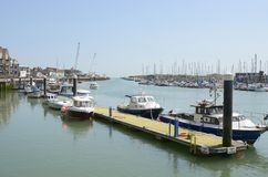 Rivier Arun in Littlehampton sussex engeland Royalty-vrije Stock Afbeeldingen