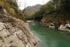 Rivier Bageshwar Uttarakhand India royalty-vrije stock foto