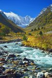 Rivier in bergen Royalty-vrije Stock Afbeelding