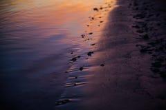 Rivier bij zonsondergang Royalty-vrije Stock Fotografie