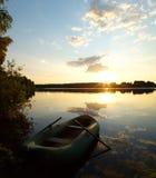 Rivier bij zonsopgang Stock Foto