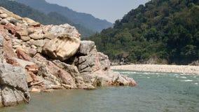 Rivier Brahmaputra in pasighat, Arunachal Pradesh Stock Foto's