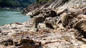 Rivier Brahmaputra in pasighat, Arunachal Pradesh stock foto
