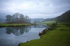 Rivier Brathay in de Langdale-Vallei, het UK stock fotografie
