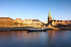 Rivier in Bremen Stock Foto