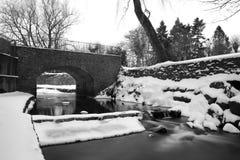 Rivier Cale, Wincanton bij de winter Stock Foto's