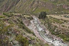 Rivier in canion Op Inca Trail aan Machu Picchu Ontzagwekkend hallo Stock Fotografie