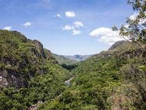 Rivier in Chapada-het Nationale Park van Dos Veadeiros Royalty-vrije Stock Fotografie