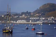 Rivier Conwy - Noord-Wales - het Verenigd Koninkrijk royalty-vrije stock foto