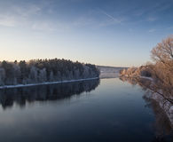 Rivier Dalälven in Zweden Stock Foto