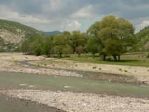 Rivier in de Rhodope-Bergen, Bulgarije Royalty-vrije Stock Foto's