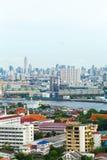 Rivier in de stad van Bangkok Royalty-vrije Stock Foto's