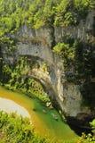 Rivier de Tarn Kayakers, Frankrijk Stock Afbeeldingen