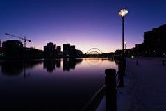 Rivier de Tyne bij Zonsondergang Stock Foto's