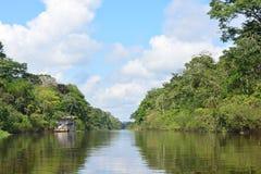Rivier in de wildernis van Amazonië, Peru royalty-vrije stock fotografie