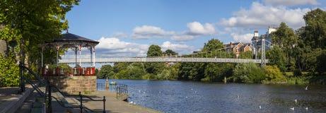 Rivier Dee in Chester stock afbeeldingen