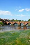 Rivier Dee en brug, Chester stock afbeeldingen