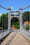 Rivier Dee Suspension Bridge, Chester stock foto