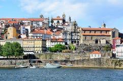 Rivier Douro en de stad van Porto royalty-vrije stock fotografie