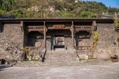 Rivier Drie Kloven Dengying Xia van Hubeiyiling Yangtze in het van de Klovenmensen ` van ` Drie plattelandshuisje van de Bedelaar royalty-vrije stock afbeelding