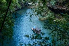 Rivier Drie Kloven Dengyingxia van Hubeiyiling Yangtze in Longxi royalty-vrije stock foto