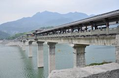 Rivier Drie van China Yangtze Kloven toneelessentie stock fotografie