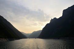 Rivier Drie van China Yangtze Kloven toneelessentie royalty-vrije stock afbeeldingen