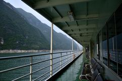 Rivier Drie van China Yangtze Kloven toneelessentie Stock Foto's