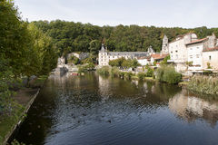Rivier Dronne in Brantome Royalty-vrije Stock Foto