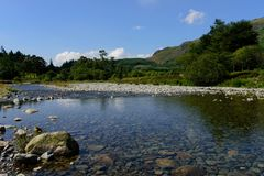 Rivier Duddon in Cumbria Royalty-vrije Stock Foto