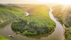 Rivier in Duitsland stock afbeeldingen