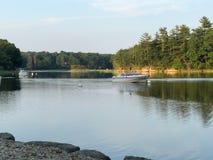 Rivier in Durham New Hampshire royalty-vrije stock fotografie